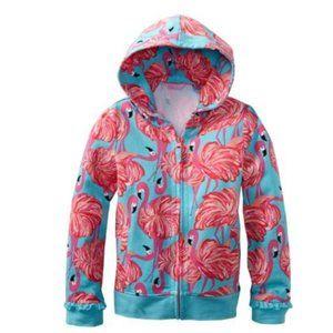 LILLY PULITZER Flamingo Light Hooded Zip Jacket